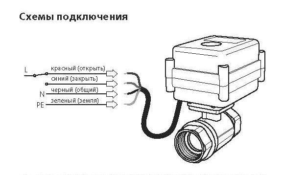 shema podklyucheniya kran akvakontrol 220v